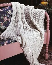 CLASSIC Fisherman's Afghan/Crochet Pattern INSTRUCTIONS ONLY