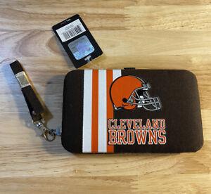 Cleveland Browns NFL Womens Organizer Ladies Wallet Purse Dawg Pound New NWT