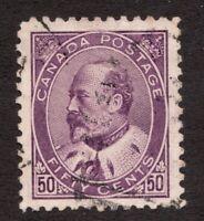 #95i - Canada -  1908  -  50 Cent  -  Used - VF w/cds -  superfleas cv$375