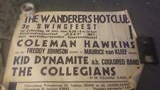COLEMAN HAWKINS 1939 JAZZ ORIGINAL  RARE CONCERT POSTER