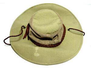 Dorfman Pacific Mens Beige Microfiber UPF 50+ Outdoor Polyester Boonie Hat Sz XL