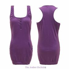 Cotton Square Neck Sleeveless Tops & Shirts for Women