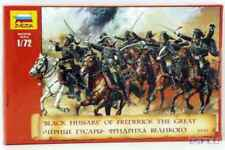 ZVEZDA 1:72 SOLDATINI BLACK HUSSARS OF FREDERICK THE GREAT ART 8079