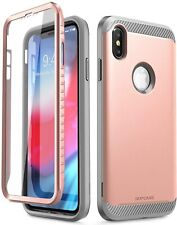 SUPCASE iPhone Xs Max 6.5 Full-Body Cover Built-In Screen Protector Rose Gold