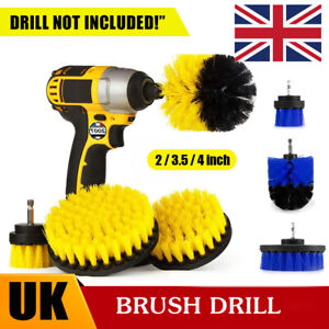 3Pcs/Set Cleaning Drill Brush Cleaner Combo Tool Electric Drill Power Scrubber