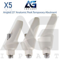 5 Angled 25° Anatomic Peek Temporary Abutment For Dental Implant Internal Hex