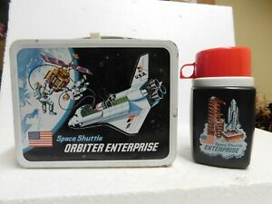 1977 Metal Lunch Box Space Shuttle Orbiter Enterprise with Thermos