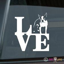 Love Boston Terrier Die Cut Vinyl Sticker - Park Bull Terrier