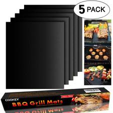 Cookey BBQ Grill Mat Set of 5 - Non Stick Oven Liner Teflon Cooking Mats - Perfe