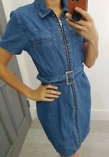 Asos denim dress with a zip short sleeves size XS