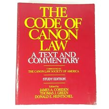 The Code of Canon Law Text & Commentary Study Edition Paperback Book 1985