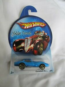 Hot Wheels 2007 Holiday Hot Rods Corvette Sting Ray, Glo-Blue Mint In Card