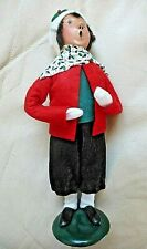 Vintage BYERS CHOICE Girl Red Jacket The Carolers 1990
