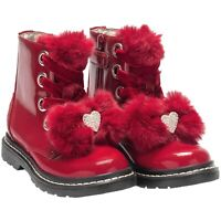 Lelli Kelly LK6520 (FD01) Fior Di Neve Red Patent Diamante Heart Boots