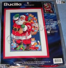 Bucilla JOLLY SANTA Needlepoint Christmas Pillow or Picture Kit -N Rossi - 60747
