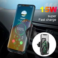 15W Qi Wireless Car Charger Mount Air Vent Handyhalter Für iPhone 11 11Pro XS XR