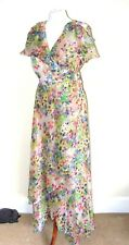 MONSOON CHIFFON FLOATY SUMMER FLORAL SUMMER MAXI WRAP DRESS WEDDING PARTY 16 14