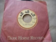 "THE BEATLES GEORGE HARRISON ""ALL THOSE YEARS AGO"" 7' 45 IN DARK HORSE SLEEVE"