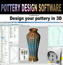 2D / 3D Pottery Design Draw Software Graphics Visualization DVD for Windows PCs