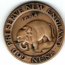 (pgasteelers1)MA. Boston 1964 N E N A - Conv. Copy 1694 Elephant Token BZ Medal