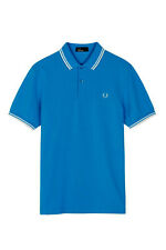 Fred Perry Polo Shirt Blue Size XS Mens Twin Tipped White M3600