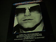 Elton John is a Victim Of Love 1979 Promo Poster Ad mint condition