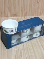 6 x Royal Worcester Flameproof Porcelain Ramekin Astley Design Pattern NEW (8)