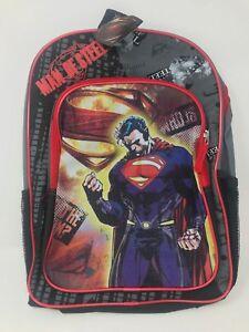 BACKPACK DC Comics Superman Man Of Steel Large School Bag NWT