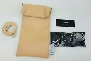 NEW Authentic Vogue sunglasses case/pouch cross body strap & cleaning cloth -
