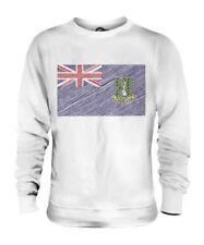 UK VIRGIN ISLANDS SCRIBBLE FLAG UNISEX SWEATER TOP GIFT FOOTBALL SHIRT