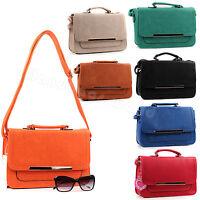 Ladies  Faux Leather Medium Satchel/Messenger Bag & Cross Body/Shoulder Handbag