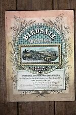ORIGINAL 1886 The BIrdsall Advertiser, Portable & Traction Engines, Auburn, NY