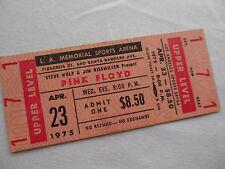 PINK FLOYD 1975 Original__UNUSED__CONCERT TICKET__Wish You Were Here Tour___EX+