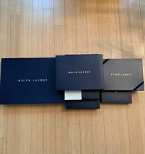 6 Ralph Lauren Large Med & Sm Empty Gift Boxes, Ribbon & Tissue Very