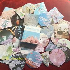 1 box 40 PCS  cherry blossom album envelope seal diary paper Craft label sticker