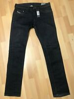 NWT Mens Diesel THAVAR Stretch Denim 0R8J4 DARK BLUE Slim W32 L34 H7 RRP£150