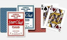 2 x Packs of STAR CLUB CASINO POKER LINEN FINISH PLAYING CARDS Black Jack fish