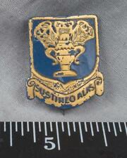 Vintage WWII Era US Army Air Corps Sustineo Alas Military Pin 22K Gold Inlay ajd