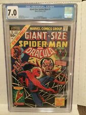 Giant Size Spiderman # 1 ..CGC 7.0 OW/W Dracula Human Torch..1974