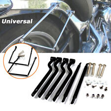 Universal Motorcycle Bike Refit Saddlebag Side Support Bar Bracket Kit Stainless