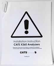 Audio Development CATS X360 Analyzers Installation Instruction Version 1.0