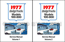1977 Dodge Truck Shop Manual W and D 100-800 Pickup Warlock Power Wagon Service