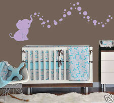 Baby Elephant with Bubbles Wall Decal Vinyl Kids/Nursery Room Create a design