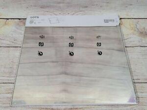 """IKEA LOTS Modern Art Wall Mirror Square 12x12 """"  (x4 Mirrors)"""