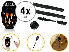 4x Portabler Bluetooth Outdoor Lautsprecher Speaker Box LED Kerze Erdspieß Set