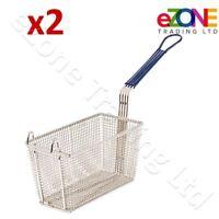 2 Frying Basket for Commercial Fryer Takeaway Restaurant Chip Fish 280x136x105mm