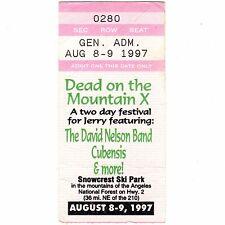 David Nelson & Marc Ford Concert Ticket Stub Snowcrest Ski Ca 1997 Black Crowes