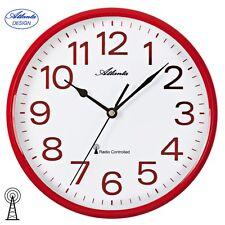 Atlanta 4378/1 Horloge murale Radio-pilotée Analogue Rouge Blanc Rond