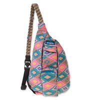 KAVU Mini Rope Bag Kids Crossbody Sling Cotton Backpack - Rhombus Rug