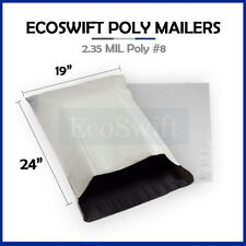 1 19x24 White Poly Mailers Shipping Envelopes Plastic Self Sealing Bags 19 X 24